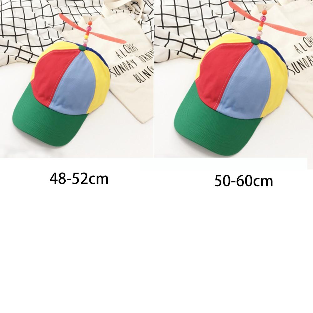 Propeller Cap Hat Helicopter Rainbow Color Fancy Hat