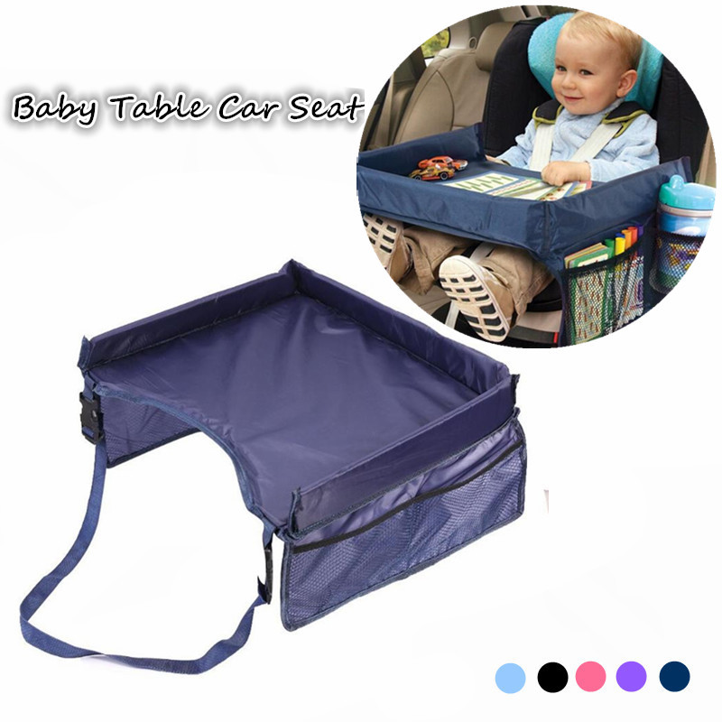 Baby Car Seat Tray Stroller Fence Kids Toy Food Water Holder Desk Children Portable Table For Car Table Storage Travel Play