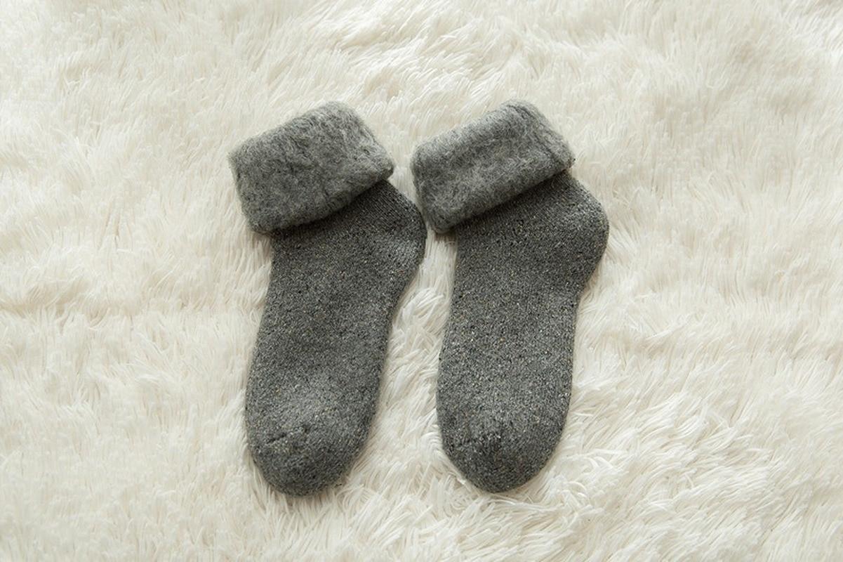 Wamvp Unisexe B/éb/é Chaussettes En Coton Bambin Chaussettes Chaussons /Épaisses Antid/érapantes Enfant Filles Gar/çons Chaussette pour Hiver Automne