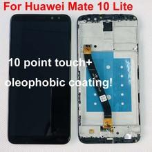 Oryginalny ekran dotykowy HUAWEI Mate 10 Lite z ramką do HUAWEI Mate 10 Lite Nova 2i wyświetlacz RNE-L21 honor 9i RNE-021 tanie tanio GRF WENO CN (pochodzenie) Pojemnościowy ekran 2160*1080 3 For Huawei Nova 2i RNE-L22 RNE-L02 RNE-L21 mate 10 lite LCD i ekran dotykowy Digitizer