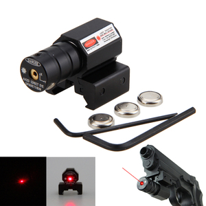New Tactical Red Laser Dot Sight Scope Fit for 11mm/21mm Gun Rifle Pistol Picatinny Dovetails Mount Optics Sniper Hunting Lazer(China)