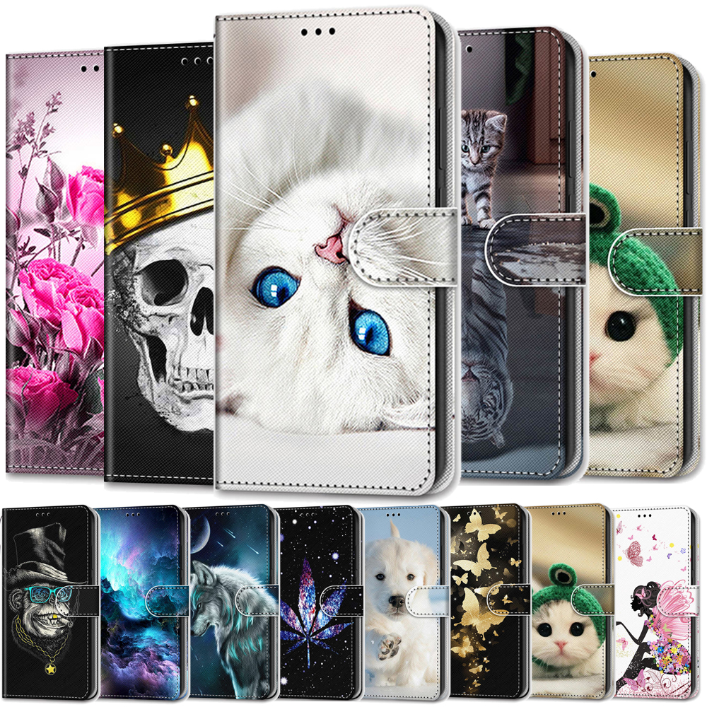 Flip Case For Alcatel 1 1S 2019 Case Leather Wallet Cover For Alcatel 3 3X 3l 2018 Phone Case Luxury Magnetic Stand Card Holder(China)