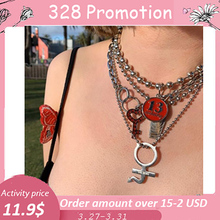 цены Sexy Punk Style Stainless Steel Necklace Key Pendant With Rhinestone Igirl Choker Gothic Collar Statement Jewelry