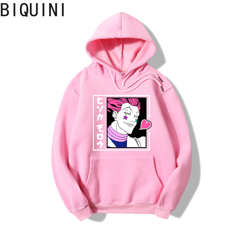 HUNTER X HUNTER HISOKA MOROW Hoodies 12 Color Hooded Tops UNISEX basic print Sweatshirt Long-sleeved  Plus Velvet  Streetwear 13