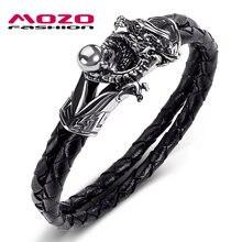 Мужские и женские браслеты хамелеоны с бусинами черные из натуральной