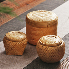 цена на Bamboo Kung Fu Tea  Jar Container Bamboo Caddies For Puer Matcha Green Tea Flower Tea Pottery Canister Storage Chests Tea Box