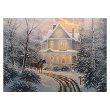 Snow Scene 5D Special Shaped Diamond Painting Embroidery Needlework Rhinestone Crystal Cross Craft Stitch Kit DIY
