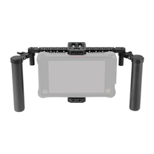 "Kayulin Adjustable 7"" Monitor Cage Rig With Dual Carbon Fiber Handle & Support Bracket Accessory For SmallHD 700 Series"