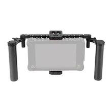 """Kayulin aparejo ajustable para jaula de Monitor de 7 """", mango de fibra de carbono Dual y soporte de soporte, accesorio para serie SmallHD 700"""