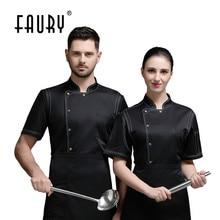 Uniform Cooking-Jacket Chef Short-Sleeve Bakery Hotel Kitchen Restaurant Pastry-Overalls