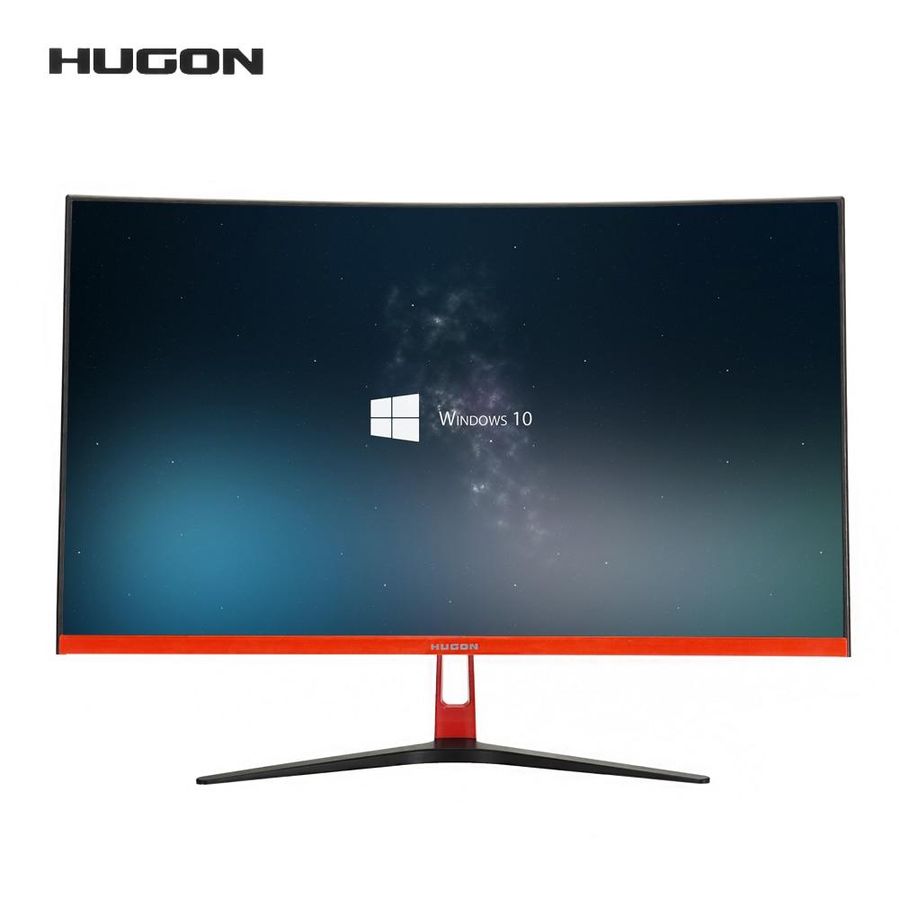 HUGON 27 дюймовый изогнутый монитор ПК 75 Гц 1920*1080P ЖК-дисплей SPVA компьютер Экран дисплея полный Hdd VGA Интерфейс