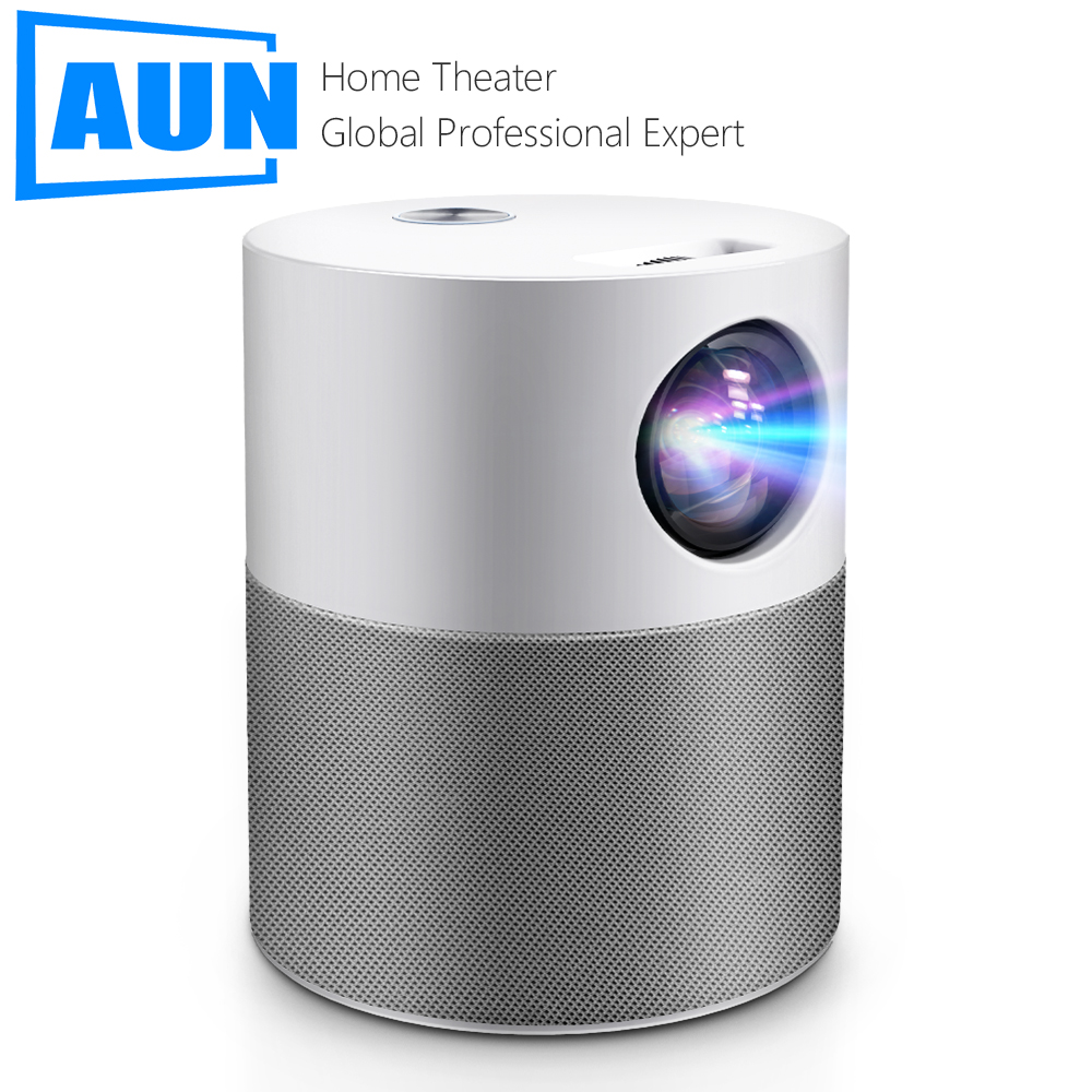 AUN ET40 Projector Full HD 1080P Android 9 Video Projector LED Projector 4k Decoding Mini Beamer for Home Theater Cinema Mobile 1