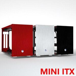 MUCAI-minitx para Gaming PC, cajita de aluminio HTPC, chasis vacío, compatible con la instalación de i7 9700 rtx2080