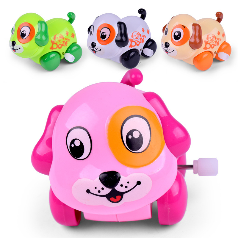 Cartoon Classic Wind-up Puppy Kitten Tortoise Shaking Head Animals Kids DIY Toys Gifts for Christmas Random Color Dropshipping