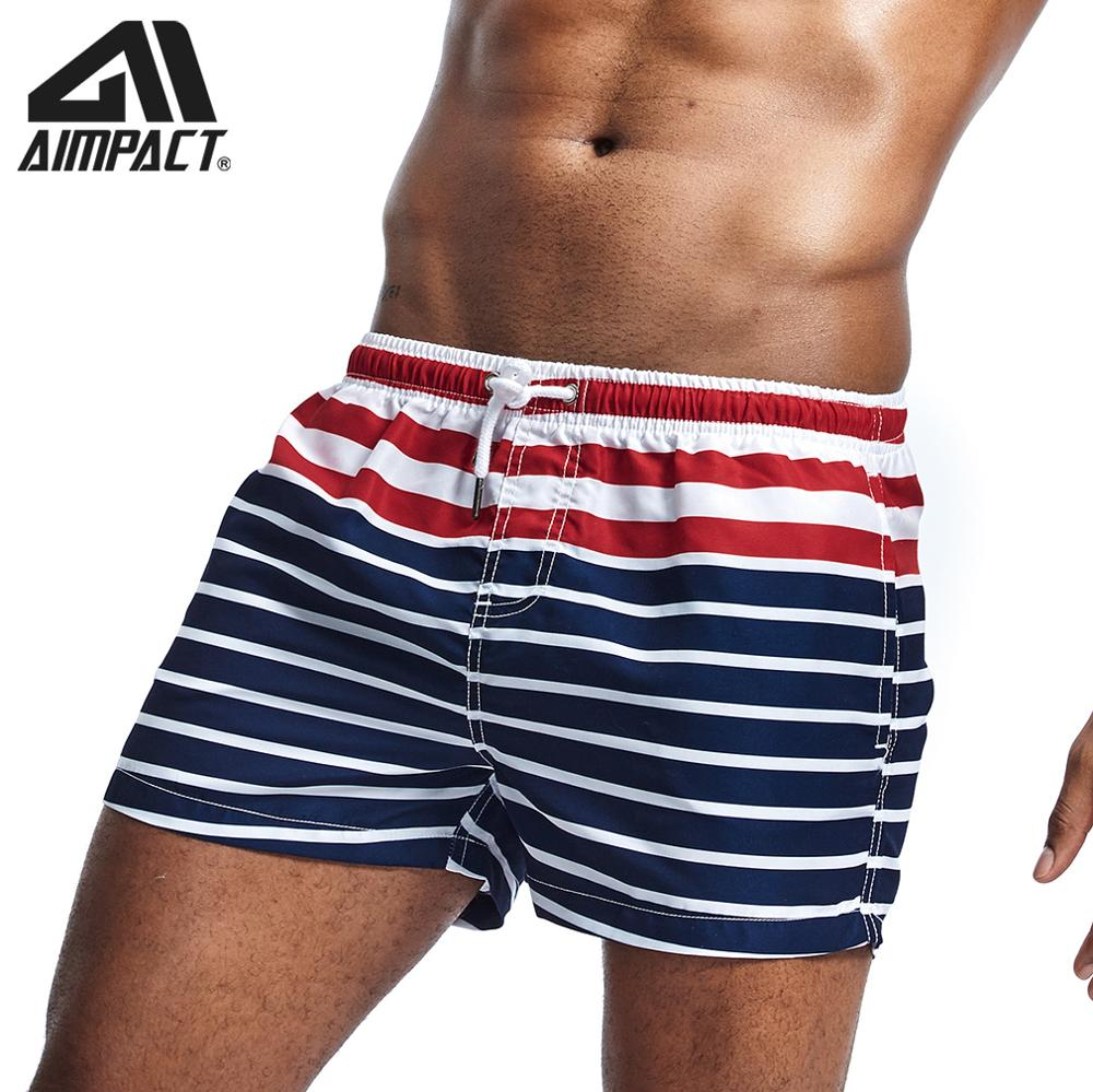 New Fashion Striped Men's Swimming Board Shorts Bathing Suits For Men Swim Sport Trunks Quick Dry Swimwear Hybird Shorts AM2211