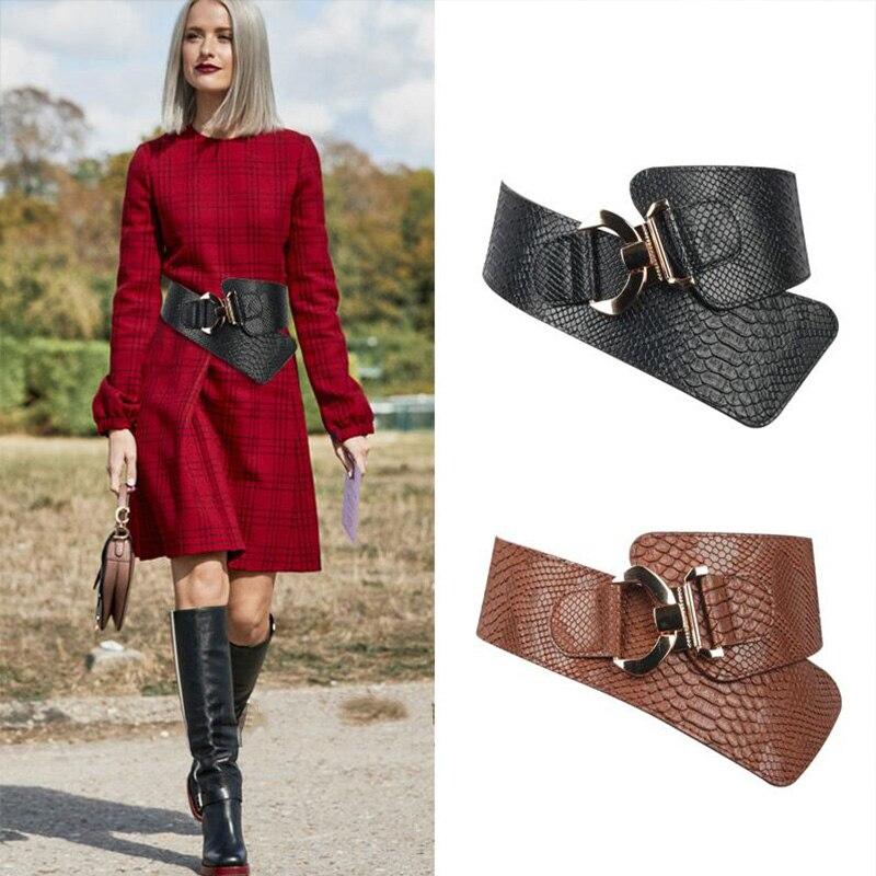 TOTRUST Women Waistband Cummerbunds Belt 2020 Wide Belts Elastic Retro Design Female Strap Slim Corset Belt Female For Dress