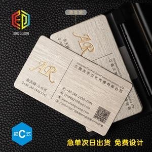 Image 4 - Letterp بطاقة عمل معدنية اللون مقعر محدب التذهيب الراقية بطاقة الأعمال بطاقات الطباعة المخصصة perdesign