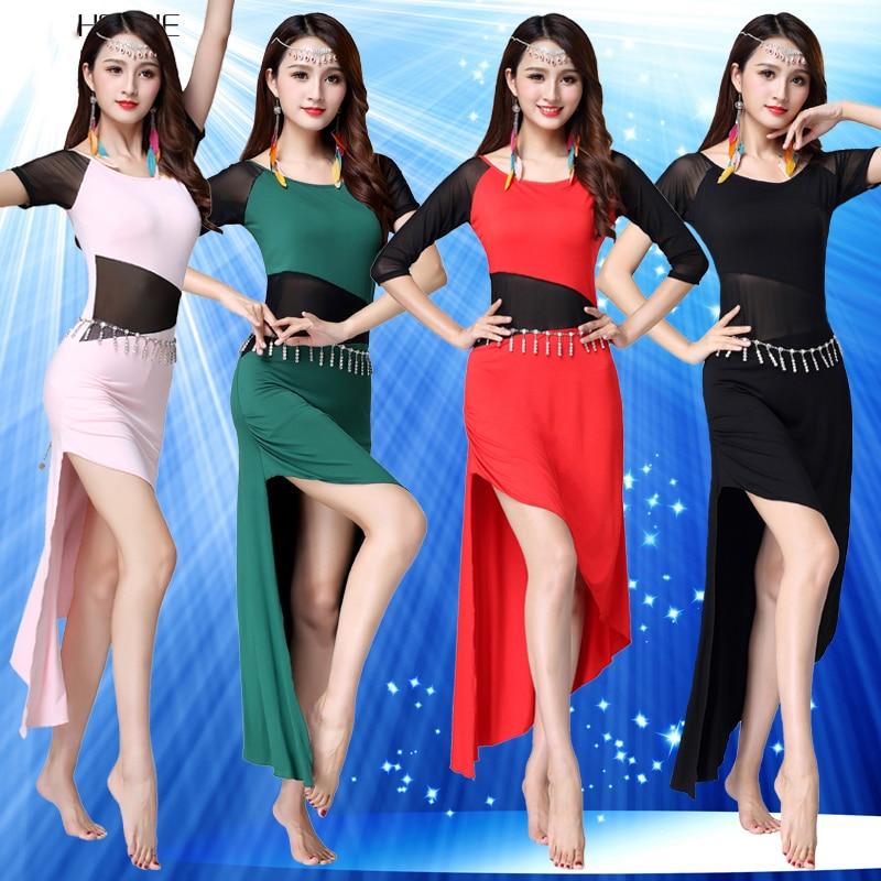 Professional One-Piece Dress Long Skirt Belly Dance Costumes Dancewear WZ