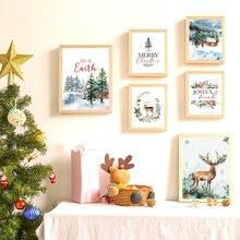 Рождественская тема художественный постер искусственная Картина