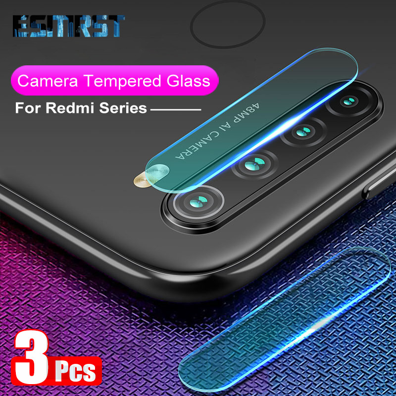 3PCS Camera Lens Tempered Glass For Xiaomi Redmi Note 8T 9S 6 7 8 9 Pro Max Glass on the Redmi 7 7A 8 8A Film Screen Protector(China)