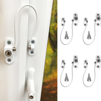 4 Pcs/lot Child Protection Window Lock Baby Safety Window Limiter Infant Security Locks on the Windows Child Safety Child Lock