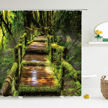 Forest Natural Scenery Shower Curtains High Quality Waterproof Shower Curtain Tree landscape Bathroom Curtain Polyester Fabric