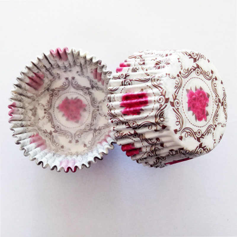 100 sztuk/zestaw Muffin babeczka papierowe kubki ciasto formy foremka do babeczek pudełko na upieczone muffinki kubek przypadku taca imprezowa dekoracyjne foremki do ciast narzędzia