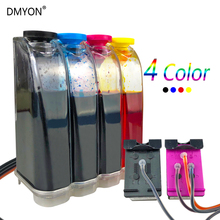 CISS with ink for HP 121XL 121 Black + Color ink cartridge 2568 4280 4288 PS C4680 C4650 C4640 D2660 D2563 printer for hp121 1set cc641he cc644he printer ink cartridge for hp 121xl 121 photosmart c4610 c4640 c4650 c4670 c4680 c4683 c4780 c4783