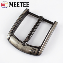 Meetee 1pc/2Pcs 40mm Belt Buckles for Men Metal Pin Buckle Fashion Jeans Lesther Belt Buckle Head for 37-39mm DIY CraftAccessory 1x 40mm metal belt buckle center bar single pin buckle men s fashion belt buckle fit 37 39mm belt leather craft accessories