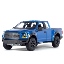цены Maisto 1:24 2017 Ford F-150 Raptor Pickup Truck Static Simulation Diecast Alloy Model Car