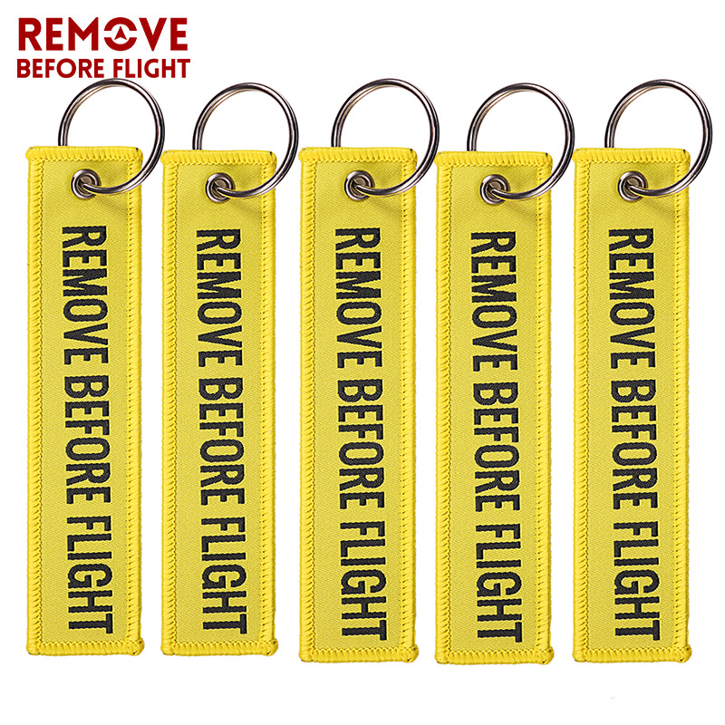 Remove Before Flight Red Embroidery Key Chains Special 4
