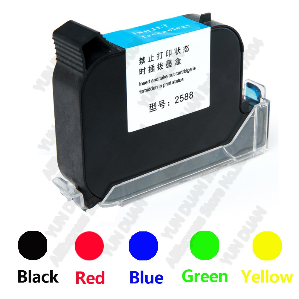 2588 42ML Black Red Blue Green Printer Ink Cartridge Quick-drying 12.7mm Print Height Universal For Handheld Inkjet Printer