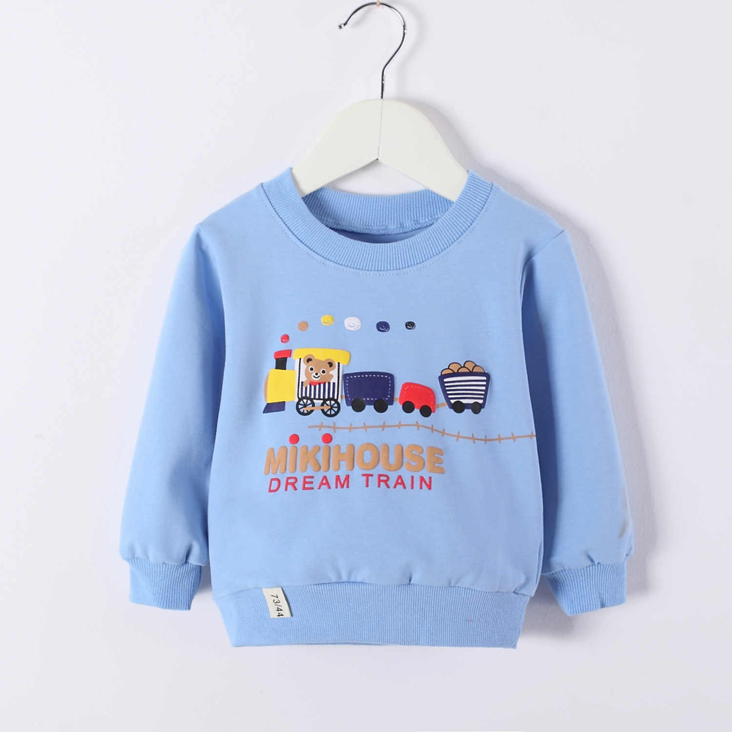 Toddler Boys Girls Blue Hoodies Unisex Cartoon Train Sweatshirts Clothes Newborn Tracksuit Size 1 2 3 Year Kids Baby Clothing