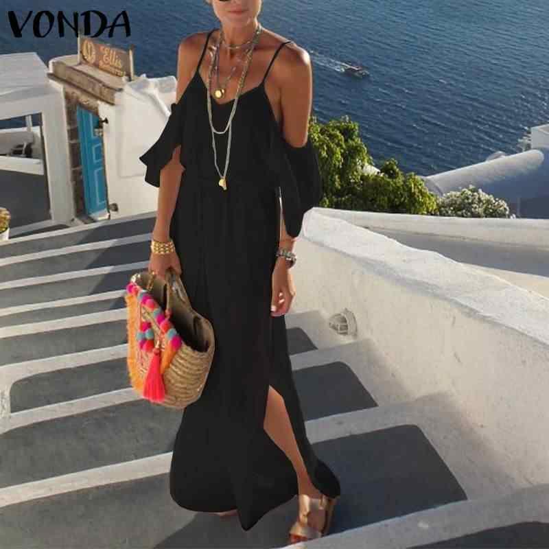 Vivo Đầm Maxi Dài Mùa Hè 2020 V Gợi Cảm Cổ Đảng Đầm Maxi Dài Đầm Bãi Biển Dáng Rộng Vestidos Plus Kích Thước Mùa Hè sundress Femme