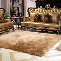 100% Wool Real Sheepskin Carpets For Living Room Bedroom Fur Rug Long Hair Soft Carpet And Rugs Kids Room Thicken Children Play