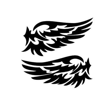 50% HOT SALES!!!Angel Wing Reflective Car Auto Stickers Rearview Mirror Back Decal Decoration image