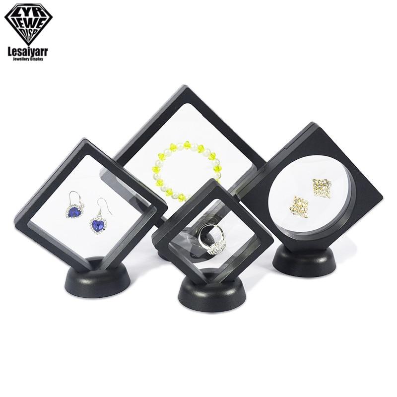 Ring Earrings Suspension Display Stand Elastic PE Film Rack Case Dustproof Transparent Bead Bracelet Pendant Jewelry Storage Box