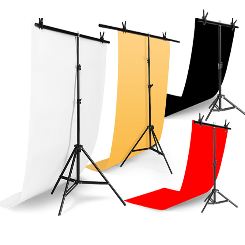 Hot Photography Photo Studio T-shape Backdrop Background  Support Stand System Metal Background Frame Bracket With Metal Clamps