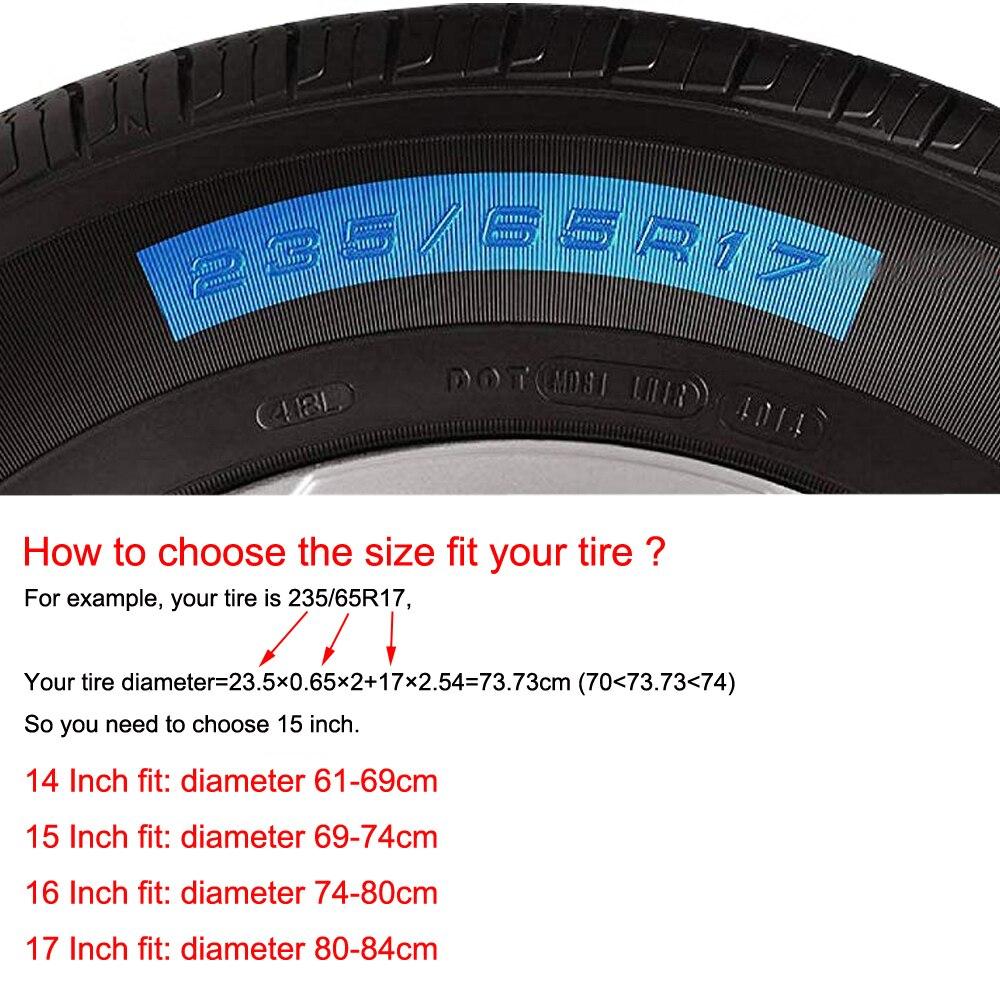 """Image 3 - 14 """"15"""" дюймов (диаметр шин 24 """" 29"""") сверхпрочный ПВХ кожаный запасной чехол для шин защитный чехол для Suzuki Jimny-in Принадлежности для шин from Автомобили и мотоциклы"""