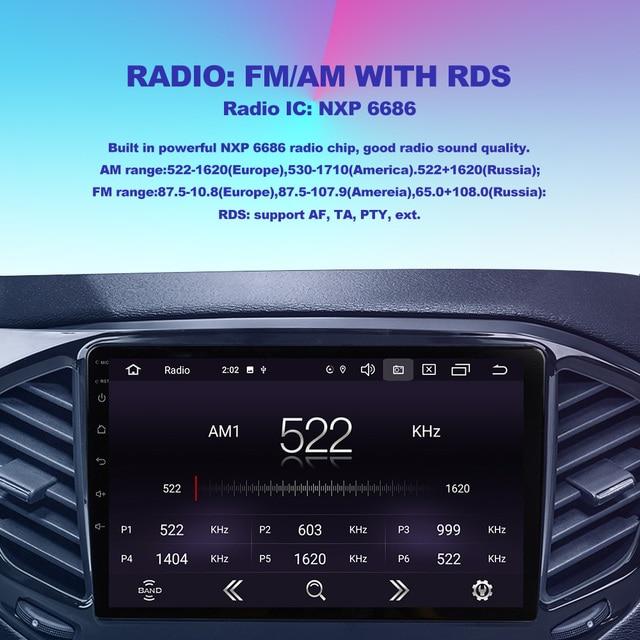 OKNAVI 2 Din Android 9.0 Car Multimedia Player ForChery Tiggo 4X 5X 2019 Car Radio Stereo With Frame Head Unit GPS Navigation