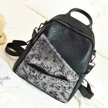 QINRANGUIO kadın sırt çantası 2020 panelli okul çantaları genç kızlar için hakiki deri sırt çantası kadın Vintage sırt çantası kadın