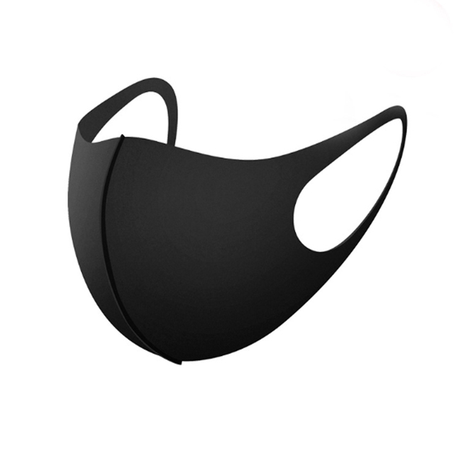 1pc  Black mouth Mask anti dust mask Activated carbon filter Windproof Mouth-muffle bacteria proof Flu Face masks Care 5