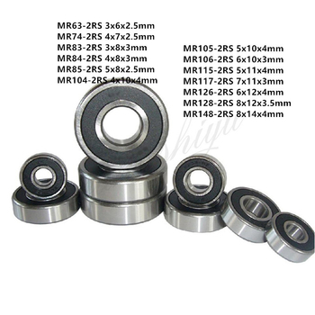 10pcs MR Series MR63-2RS To MR148-2RS Miniature Model Bearing Rubber Sealed Ball Bearings s6215 2rs stainless steel shielded miniature ball bearings size 75 130 25mm