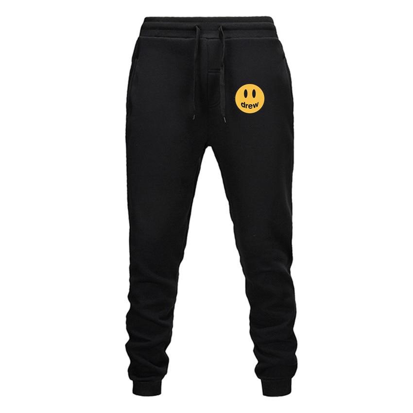 2019 Fashion Men Drew Gyms Pants Hoodie Fitness Casual Long Pants Men Workout Skinny Sweatpants Joggers Tracksuit Cotton Trouser