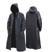 2020 neue schwarz mode erwachsene wasserdichte lange männer frauen regenmantel mit kapuze für große junge mädchen reise angeln klettern radfahren