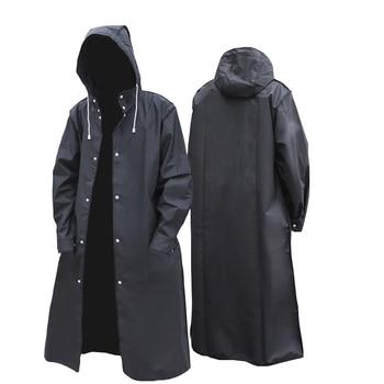 Chubasquero largo impermeable con capucha para hombre y mujer, impermeable, para viaje,...