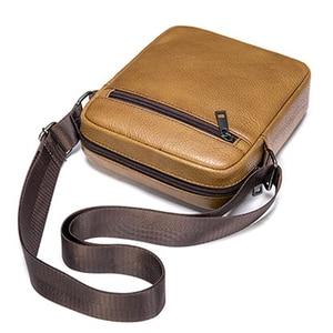 Image 3 - VICUNA POLO bolso de hombro de piel auténtica para hombre, Estilo Vintage bandolera, informal, promocional