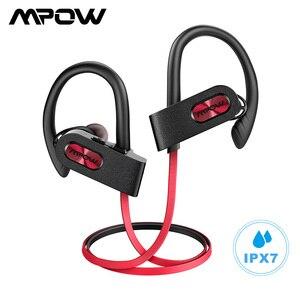 Image 1 - Mpow płomień 2 Bluetooth 5.0 słuchawki bezprzewodowe słuchawki z mikrofonem IPX7 wodoodporny 13H czas odtwarzania dla iPhone X 7 telefon xiaomi