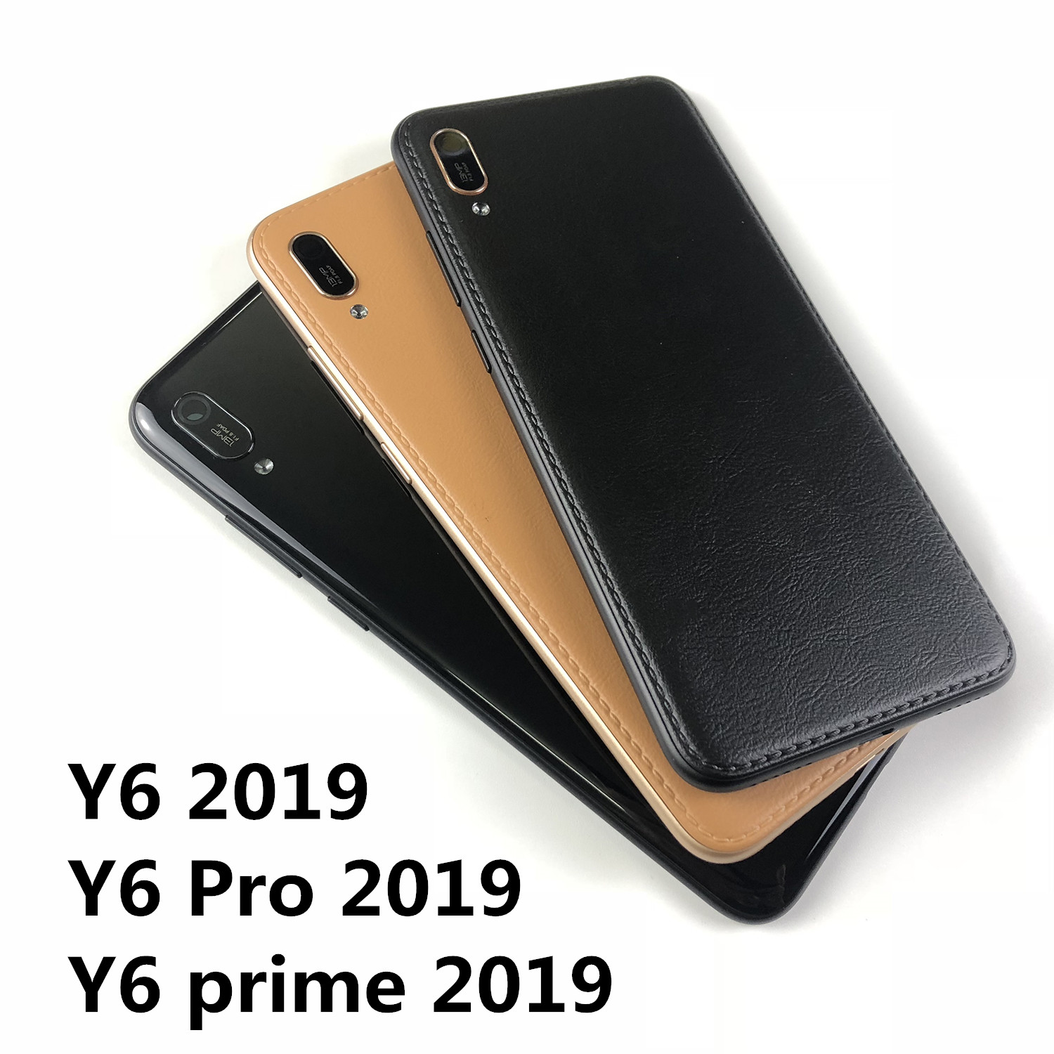 For Huawei Y6 2019 / Y6 Prime 2019 / Y6 Pro 2019 Housing Battery Cover Back Cover And Power Volume Buttons+logo