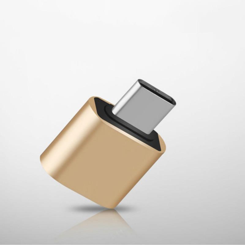 OTG Adapter Android Type C USB 2.0 Adapter Aluminum Alloy Mobile Phone U Disk Converter Random Colour